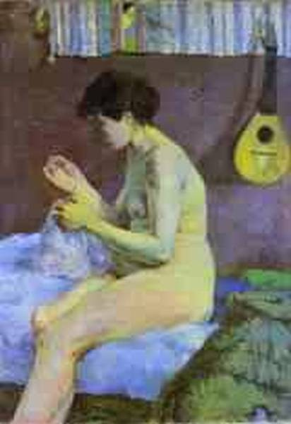 Study of a nude suzanne sewing 1880 ny carlsberg glyptote
